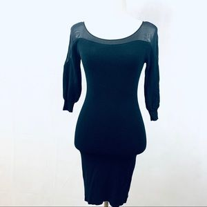 Bar lll Bodycon Dress with Sheer Neck & Shoulders